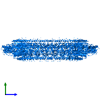 PDB 7bj2 contains 26 copies of Flagellar P-ring protein in assembly 1. This protein is highlighted and viewed from the side.