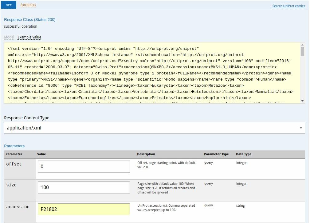 Proteins API EMBL-EBI