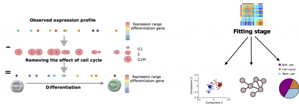 Overview of the single-cell latent variable model, an approach to decompose heterogeneity in single-cell transcriptome data.