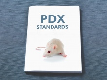 Manual entitled PDX standards with albino mouse on cover
