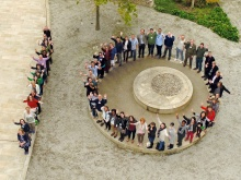 Aerial shot of participants during 10 year anniversary Training Symposium