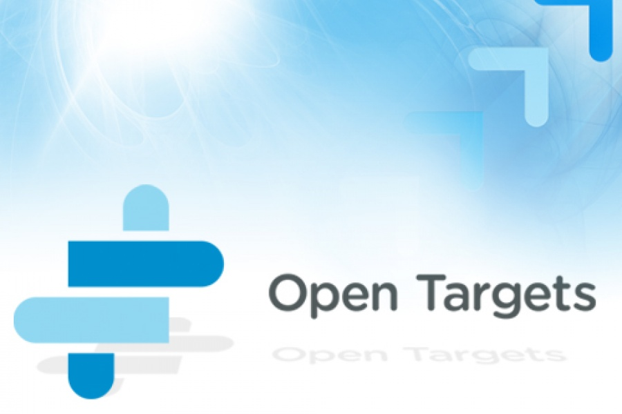 Open Targets background and logo