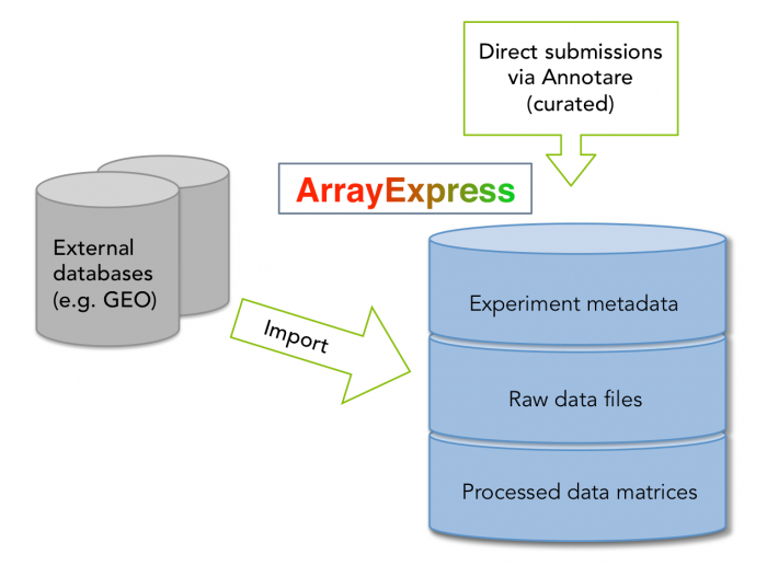 Overview of data in ArrayExpress